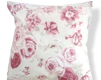 Clarke and Clarke  Genevieve Roses cotton upholstery cushion cover