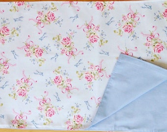 Shappy chic handcrafted Rachel Ashwell ballet rose table runner gift for the home
