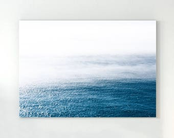 ocean wall art water print waves poster blue water large