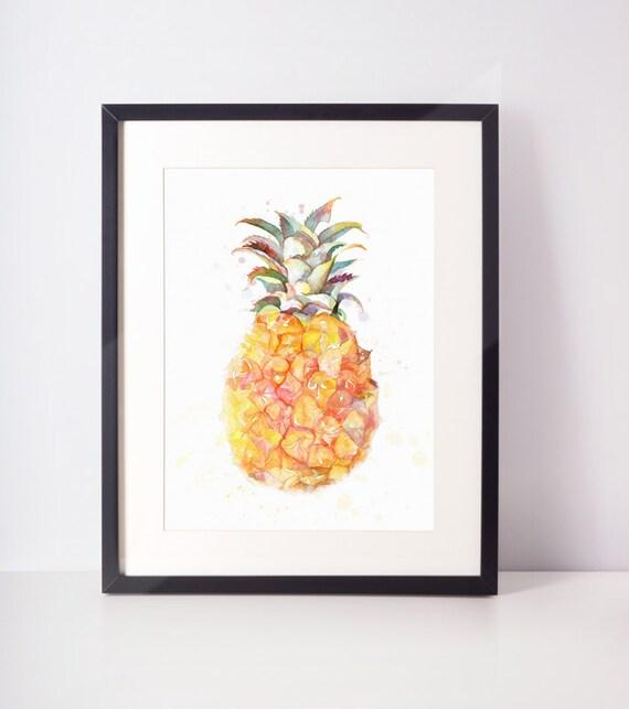 ordinary Pineapple Wall Art Part - 2: Pineapple Print Pineapple Wall Art Printable Pineapple Best   Etsy