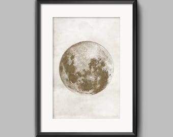 Moon Print Moon Poster Moon Art Moon Wall Art Moon Prints
