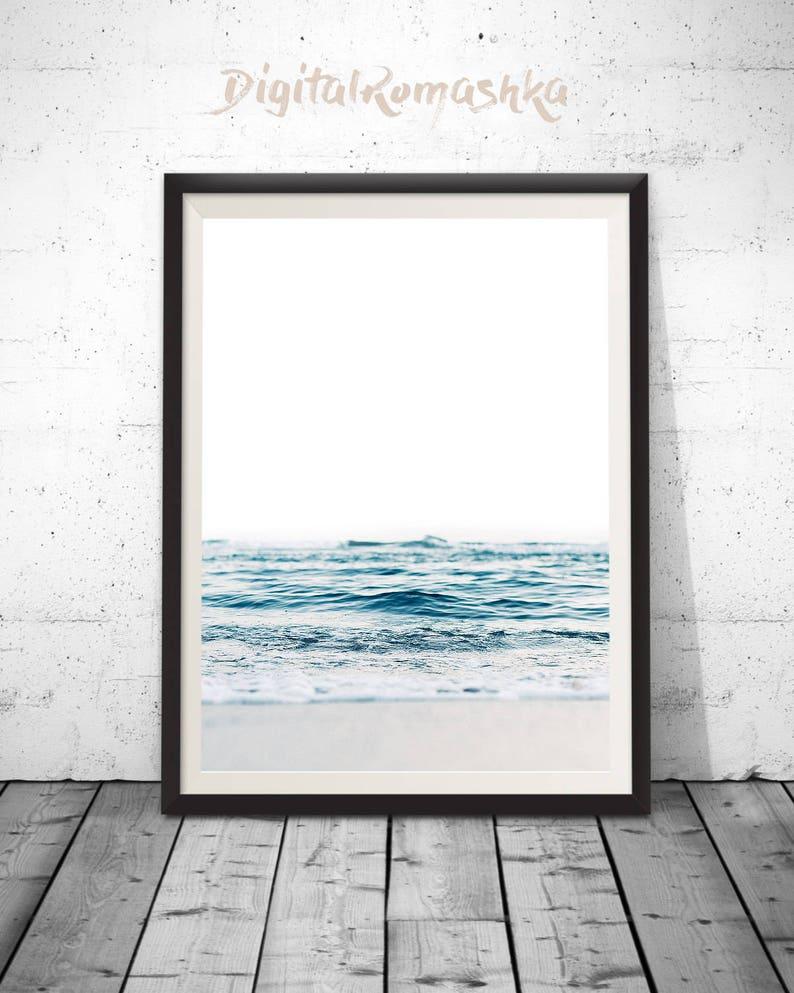 Ocean Print Sea Photography Ocean Water Wall Art Ocean image 0