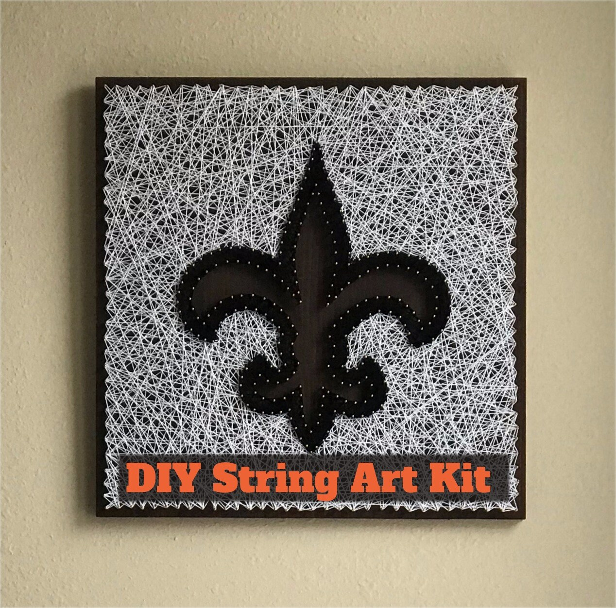 Fleur de lis DIY sting art kit, New Orleans Saints, nail and string ...