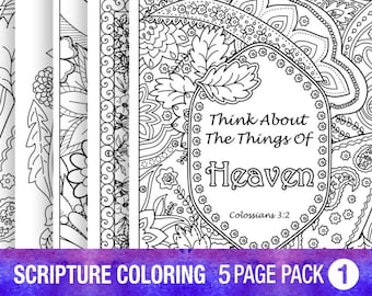 5 bible verse coloring pages set inspirational quotes diy adult coloring pages printable sheets pdf instant download floral wreath