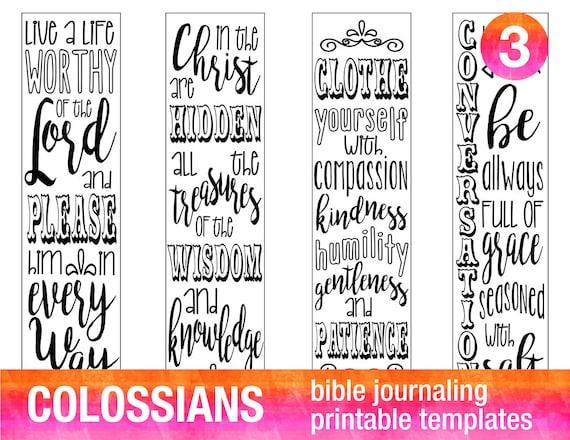 4 Bible journaling printable templates illustrated christian faith ...