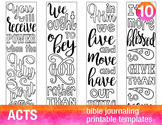 image regarding Acts Prayer Printable referred to as Functions - 4 Bible journaling printable templates, illustrated christian religion bookmarks, black and white bible verse prayer magazine stickers