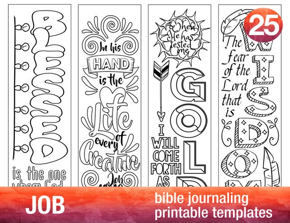 job 4 bible journaling printable templates illustrated etsy