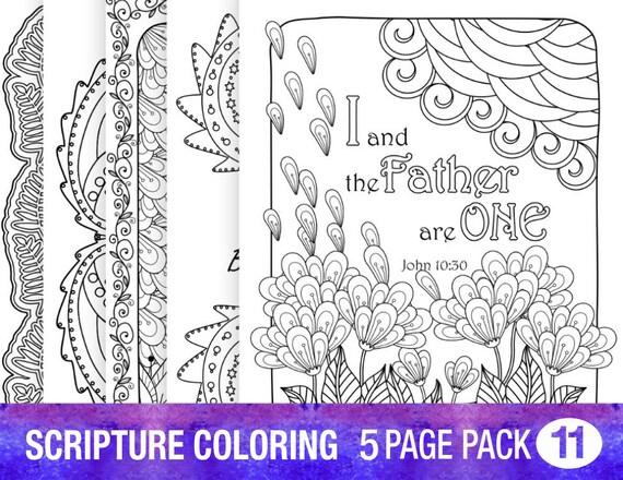 Escrituras cristianas Biblia versículo para colorear páginas | Etsy