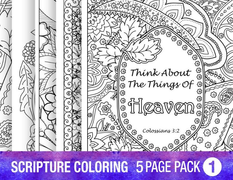 Verso 5 Dibujos Biblia Para Colorear Establece A Citas De Etsy