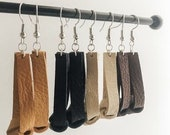 Knotted Leather Drop Earrings