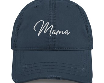 Distressed Mama Hat | Bad Hair Day Cap | For Moms | Trendy Hats | Baseball grunge