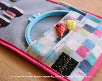 Embroidery Tools Organizer ( For 5 to 6 inches hoop) Gray lining