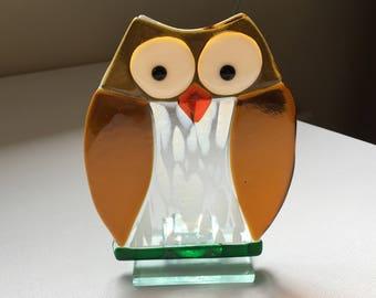 Fused Glass Owl