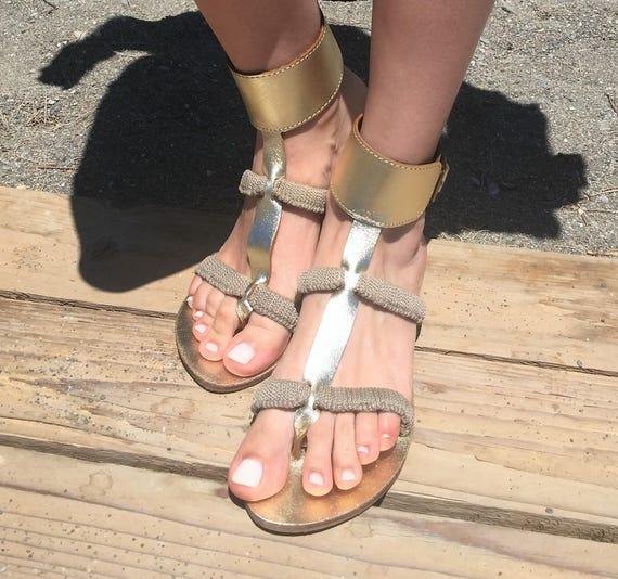 sandals sandals Leather Egst Greek Macrame in Womens sandals sandals Made Boho sandals Greece sandals Handmade Summer Gladiator Owqp0w