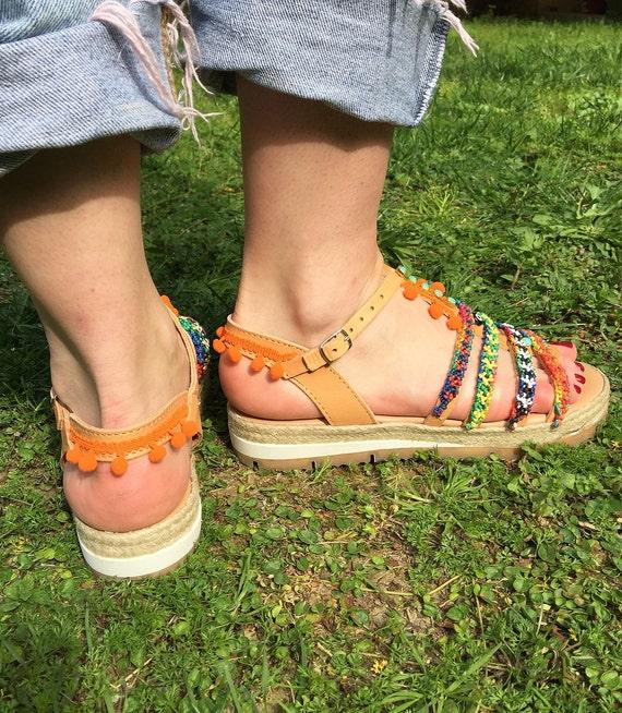 Evil Friendships in sandals Egst Handmade Leather Greece sandals Boho Greek Hippie Gladiator Sandals Sandals Sandals Eye Made wzqU4PR