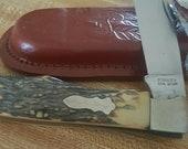 Vintage USA SCHRADE 127UH Uncle Henry single blade Folding Pocket Knife