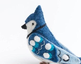 Stuffed Chickadee Bird Personalized Felt Ornament Stuffed Felt Decoration Gift for bird lover Mother/'s day gift