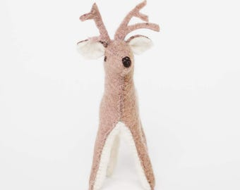 Felt Deer Ornament, Winter Bambi, Felt Christmas Ornament
