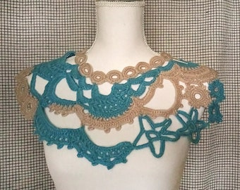 Ready to ship/Crochet collar -decorative collar -woman accessories-bohemian accessories/gift for friends
