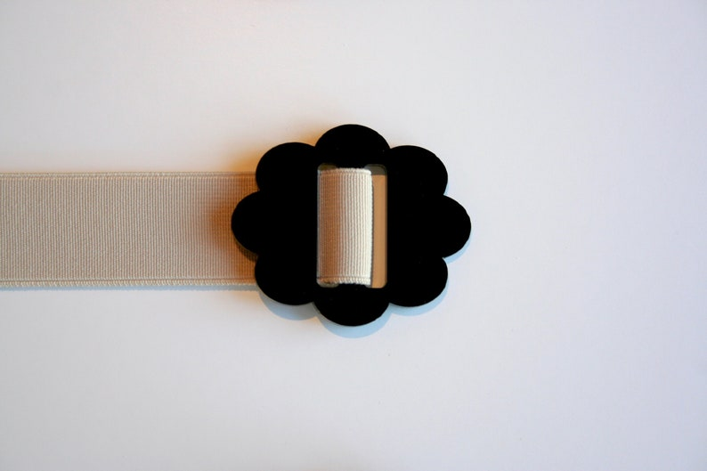 also available with black or white belting elastic. Beige Cloud Belt