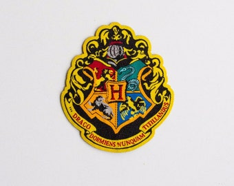 bb5525df7a1 Harry Potter Hogwarts Houses patch - iron-on 3 inch patch