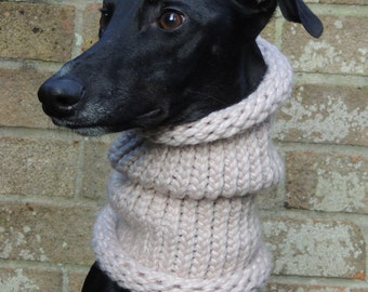 Greyhound, Lurcher, Whippet Snood Neck Warmer / Scarf. Handmade with extra chunky yarn. Various vibrant colours