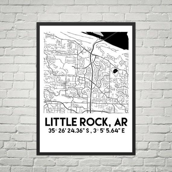 Map Poster of Little Rock, Arkansas (Instant Download)