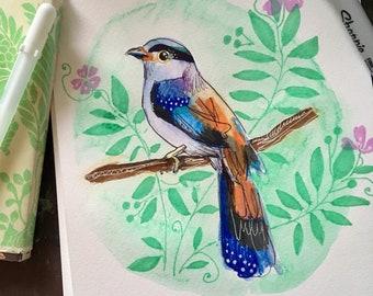 Tropical Bird Print