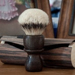 Shaving Brush - Black Anvil - Nadrageel. Ancient Irish Bog Oak.