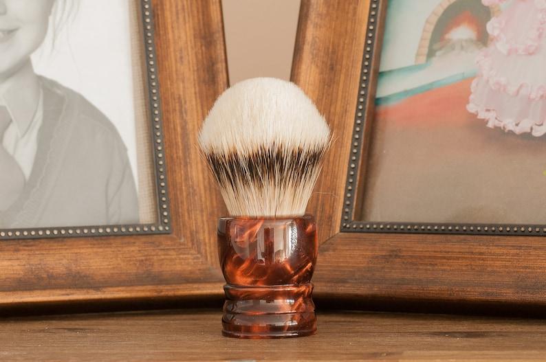 Shaving Brush  Black Anvil  Druid. Rúibín Ruby image 0