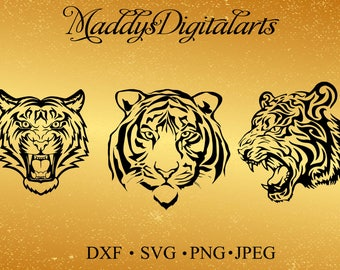 Tiger SVG Head Of A Svg Dxfpng Print And Cut File For SilhouetteCricut Tattoo Designt Shirt Designs Wall Decorcutting Files