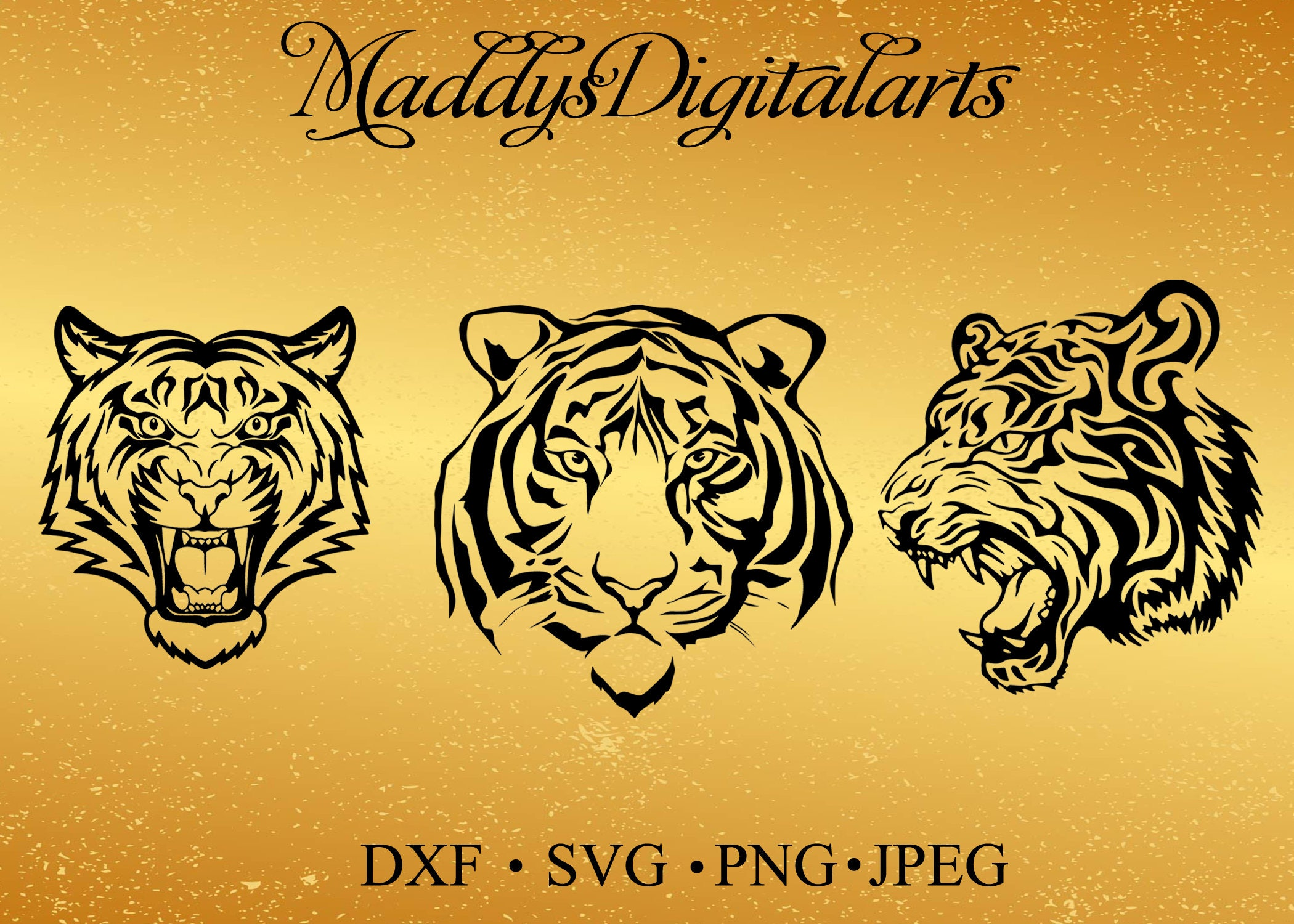 Tiger SVG, head of a tiger, svg, dxf,png, print and cut file for ...