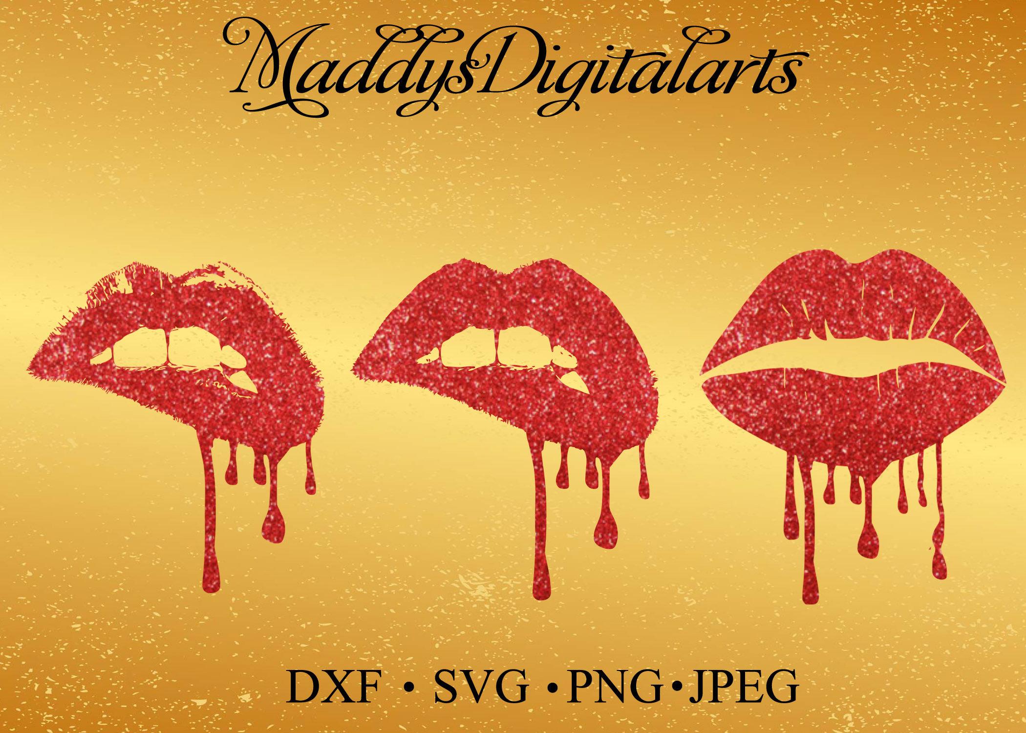 Dripping Lips Lips Wall Art Lips Poster Lip Black dripping | Etsy