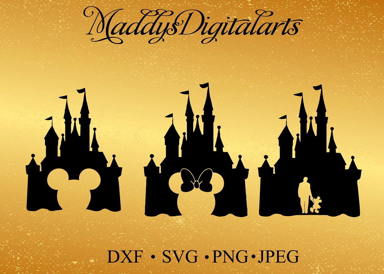 Disney Castle Mickey Mouse SVG Monogram Minnie Mouse Svg | Etsy