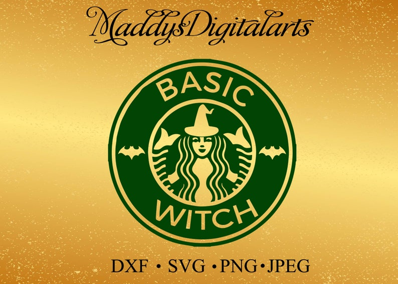 graphic about Starbucks Logo Printable called SVG, simple witch, starbucks emblem, halloween starbucks svg, starbucks emblem, lower document, printable report, cricut, silhouette, fast down load