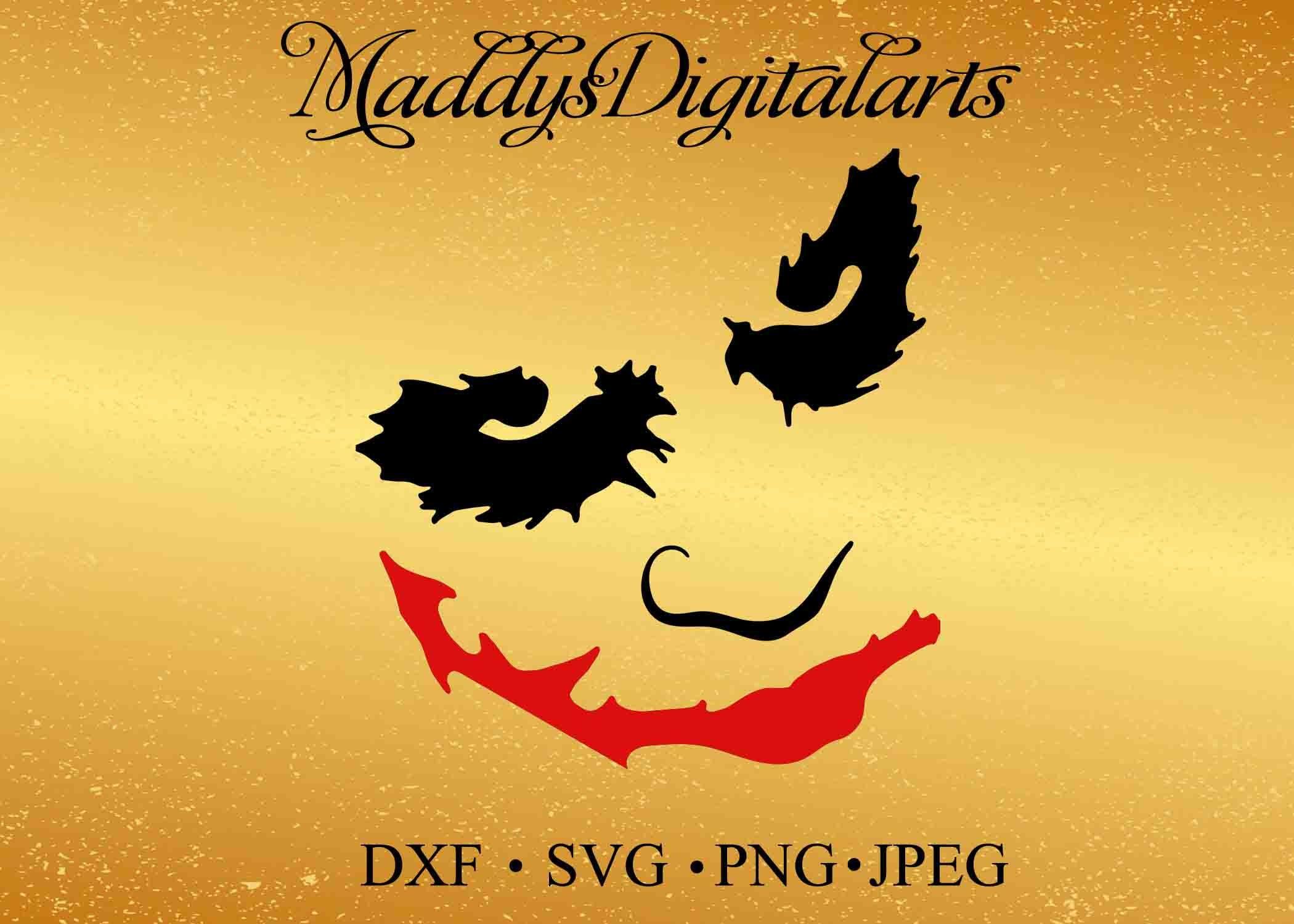 Joker SVG DXF Png Vector Cut Files Silhouette Cameo Cricut Design ...