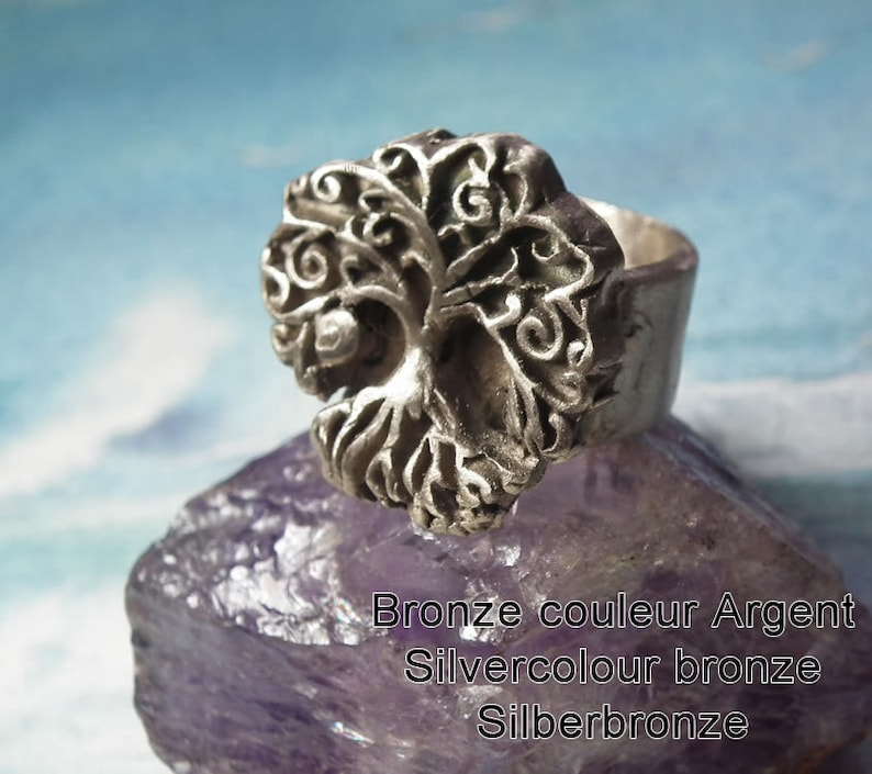 Yggdrasil ring celtic tree of life  handmade at your size in goldcolour  bronze white bronze silver colour or copper