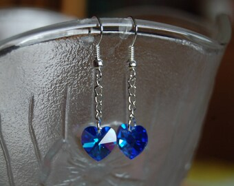 beautiful earrings swarovski Sapphire