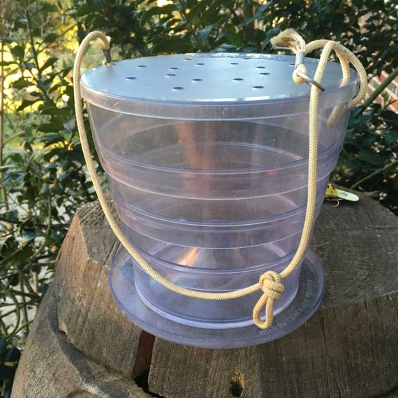 Collapsible Minnow Trap And Bucket Catch And Carry Unique Rare Fishing Vintage