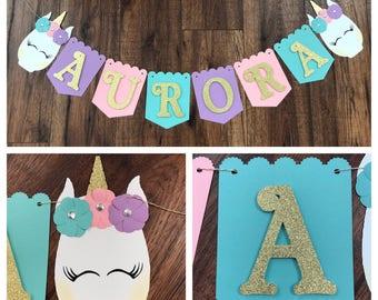 Glam Unicorn Name Banner, Glam Unicorn, Unicorn, Unicorn Name Banner, Matching Unicorn Name Banner