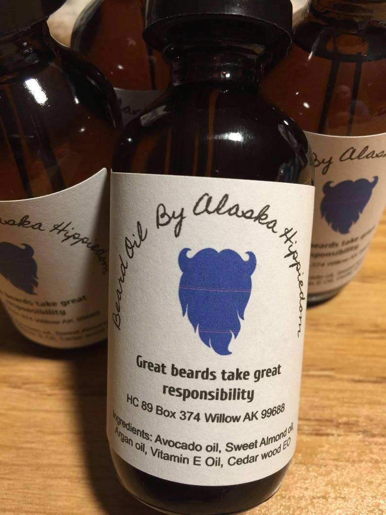 Beard oil Cedar wood, eliminate beardruf, growth enhancer, softner, 2oz  size, Alaska made
