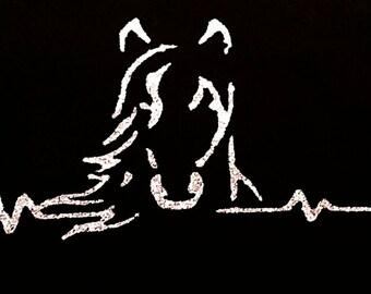 Horse shirt -Horse clothing - horse heart beat