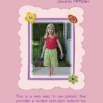 Girls Box Pleat Culotte Pattern