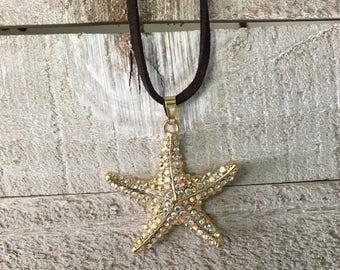 Collier avec pendentif bijou étoile de mer