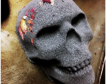 skull bath bomb- choose from 6 scents, great gift for her, dia de los muertos shower gift, skull lover present, unique bath bomb, goth bath
