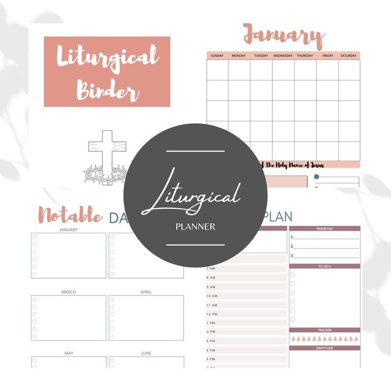 Traditional Catholic Liturgical Planner  binder printable image 0