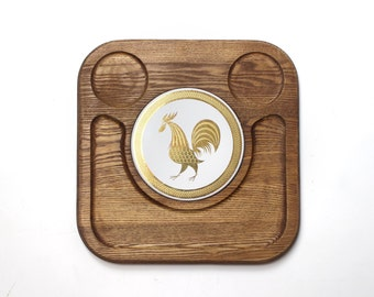 Vintage Rooster Cheese Platter