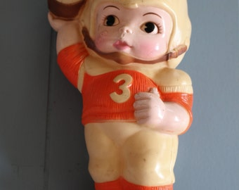 Vintage Plastic Bank - Football Player