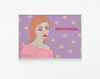Cute Kawaii Print Pink Art Pastel Patterned Retro Lips Girl Etsy