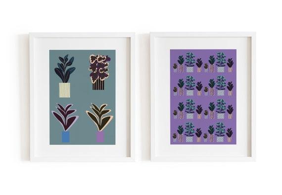 Lilac Green Plant Set